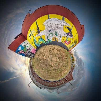 Бразильско-белорусский street art фестиваль. Панорамы Минска